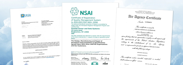 Quality and Compliance Certificates