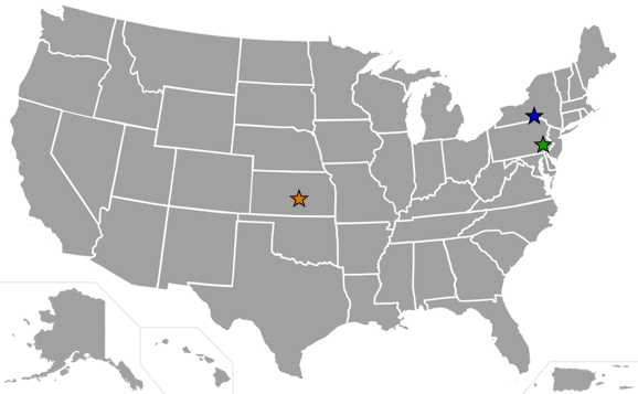 PDS Locations Map