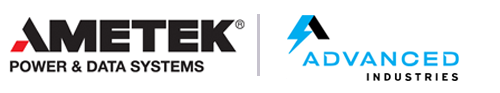 Ametek Power & Data Systems Advanced Industries logos